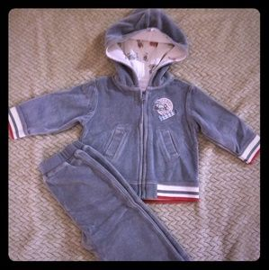 Blue track suit for baby boy.